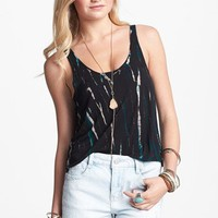 C+B Scoop Back Tie Dye Crop Tank (Juniors) | Nordstrom