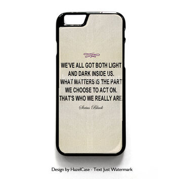 Harry Potter - Albus Dumbledore Quote for iPhone 4 4S 5 5S 5C 6 6 Plus , iPod Touch 4 5  , Samsung Galaxy S3 S4 S5 Note 3 Note 4 , and HTC One X M7 M8 Case Cover