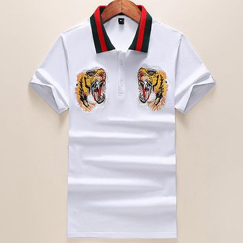 Gucci Casual Men V-Neck Shirt Top Tee