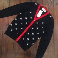 DCCKSP2 GUCCI Bee V-collar Cardigan Sweater