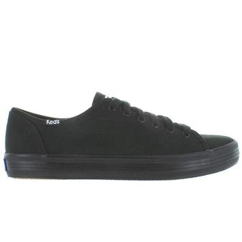 VONES2C Keds Kickstart - Black Canvas Lace-Up Sneaker