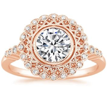 14K Rose Gold Alvadora Diamond Ring