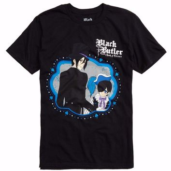 ANIME Black Butler BOOK OF CIRCUS SEBASTIAN & CIEL T-Shirt NEW 100% Authentic