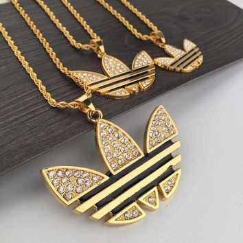 New Arrival Gift Jewelry Shiny Stylish Leaf Classics Vintage Necklace [6542721411]