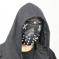 Watch Dogs 2 Dedsec Aiden Pearce Wrench Mask Helmet Eyepatch Face Muffle Cosplay