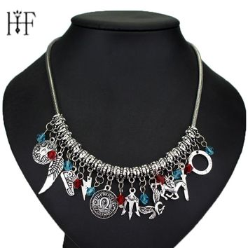 Percy Jackson Crystal beads Pendent charm choker Necklaces & Pendants Simple Vintage Movie Jewelry Fashion Hand Jewelry