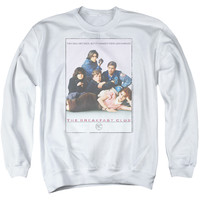 BREAKFAST CLUB/BC POSTER - ADULT CREW SWEAT - White - 3X