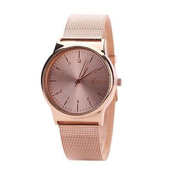 Classic Rose Gold Mesh Steel Bracelet Watch  for Womens