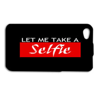 HOLD ON, Let Me Take A SELFIE iPhone Case Red and Black iPod Case Cute Selfie Phone Cover iPhone 4 iPhone 4s iPhone 5 iPhone 5s Funny iPod 5