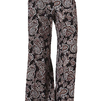 Women's High Waist Slinky Stretchy Palazzo Pants
