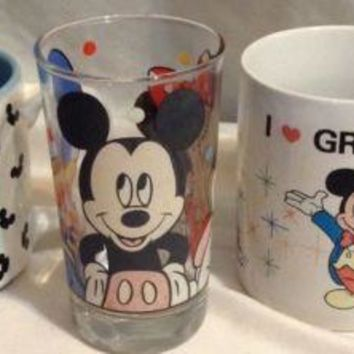 WALT DISNEY'S MICKEY MOUSE CLUB Coffee Cup Mug Musical vintage Mug Cup Lot