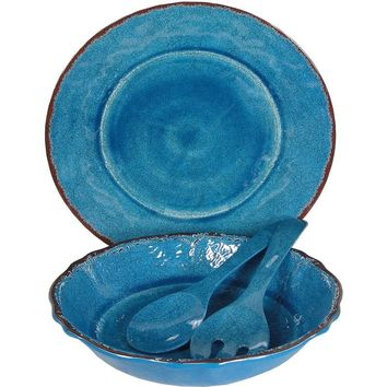 Antiqua Blue - 4 Piece Serving Set