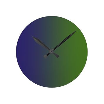 St. Patrick's blue Charcoal Dark olive green Round Clock