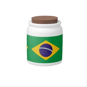 Brazilian Flag Candy Jar
