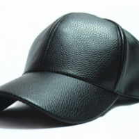 Snapback Leather Baseball Cap For Men & Women