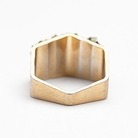 Marly Moretti Womens Hexagon Stone Ring