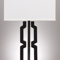 0-001399>Set of 2 Mitzi Table Lamps Black/Silver