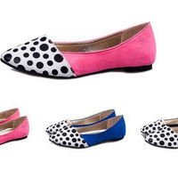 Womens Cute Polka Dot Casual Flats