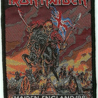 Iron Maiden Sew On Patch England 1988 Logo