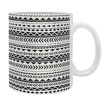 Allyson Johnson Black And White Aztec Pattern Coffee Mug