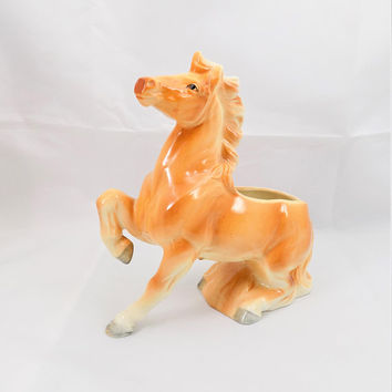 Palomino Horse Planter, Relpo, Made in Japan, House Plant Pot, Vintage Home Decor