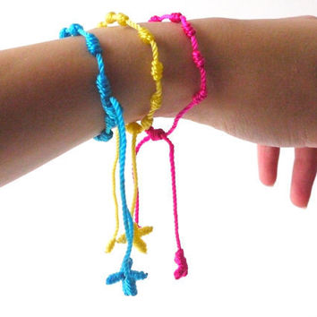 Friendship Bracelets Thin Woven Bracelets by sweetllamasupplies