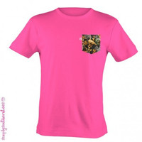 Simply Southern Funny Pink Camo Camouflage Pocket Sweet Thing Bright T Shirt