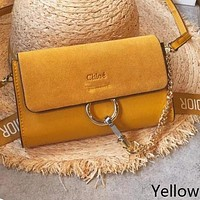 Chloe Fashion Women Shopping Leather Shoulder Bag Crossbody Satchel(7-Color) Yellow I-WXZ2H