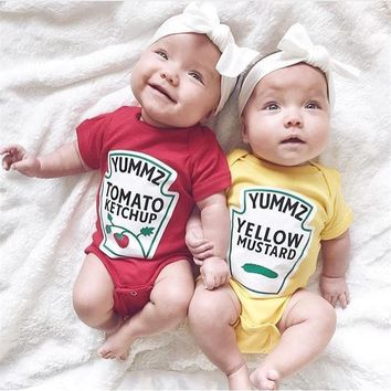 Ketchup and Mustard Baby Bodysuit Onesuit