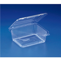 6 x 5 x 2 Clear Hinged Cookies Donuts Containers/Case of 300