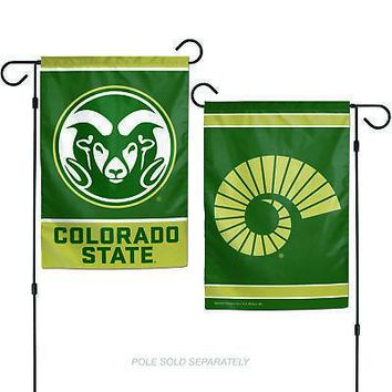 """Licensed Colorado State Rams Official NCAA 12"""" x 18"""" 2 Sided Garden Patio Flag Wincraft KO_19_1"""
