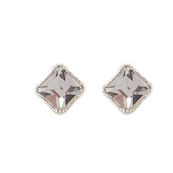 Crystal Stone Stud Earrings