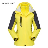 THE ARCTIC LIGHT New Women ski Jackets Outdoor Hiking Trekking Warm Snowboard Coat Waterproof Snow Jacket Sportswear Winter
