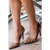 Picture Perfect Leopard Suede Pointed Pumps