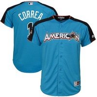 Youth American League Carlos Correa Majestic Blue 2017 MLB All-Star Game Home Run Derby Jersey