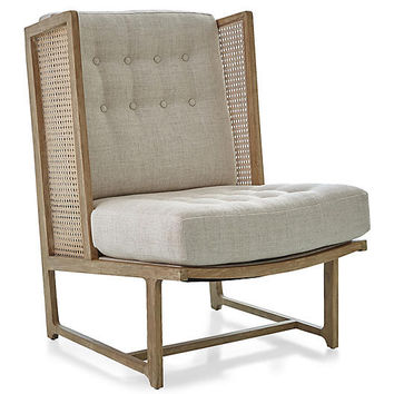 Palm Desert Wingback Chair, Taupe - Wingback Chairs - Chairs - Living Room - Furniture | One Kings Lane
