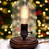 Edison Lamp for Desk or Table - Steampunk Industrial Lamp - BULB INCLUDED