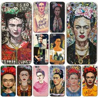 nueva Frida Kahlo art Design phone Hard Transparent Case Cover for iPhone 4 4S 5 5S SE 5c 6 6s 7 7 Plus