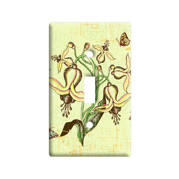 Vintage Spring Easter Butterfly Floral Pattern Light Switch Plate Cover