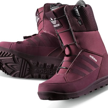 Adidas Mika Lumi Womens Snowboard Boots - Amazon Red/Light Maroon/Black