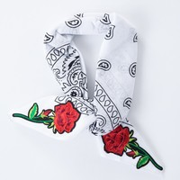 Patched Up Rose Bandana