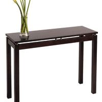 Winsome Wood Linea Console / Hall Table with Chrome Accent - Dark Espresso
