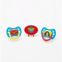 Wonder Woman Pacifier 3 Pack - Spencer's