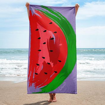 Delicious Watermelon Beach Towel
