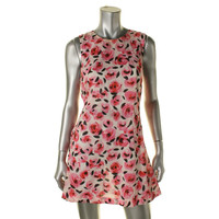Kate Spade Womens Bay Of Roses Floral Print Knit Dress Swim Cover-Up