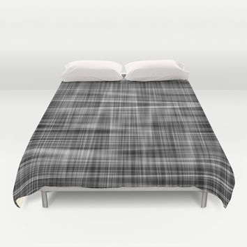 Ambient 7 in Grayscale Duvet Cover by Bruce Stanfield