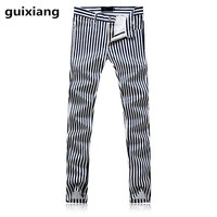 2017 Men's high quality stripe style flower business trousers Straight pants men leisure business trousers pants Free shipping