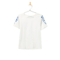 T-SHIRT WITH PRINTED AND BEADED SLEEVES - T-shirts - Girl - Kids - ZARA United Kingdom
