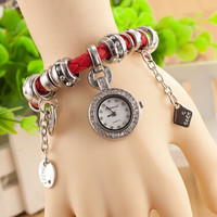 Womens Girls Handmade Weaving Strap Bracelet Watch Best Gift Watches-460