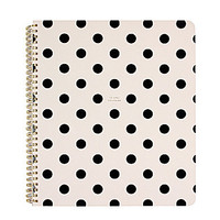 kate spade new york Deco Dots Large Notebook - Black Deco Dots